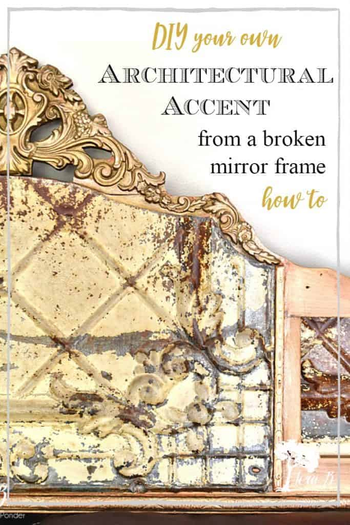 old mirror frame repurpose