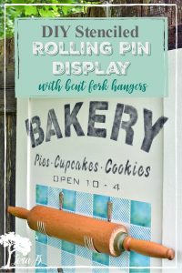 DIY rolling pin display