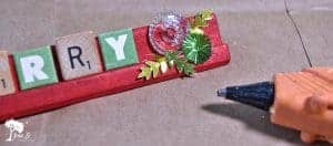 Christmas rolling pin decor diy