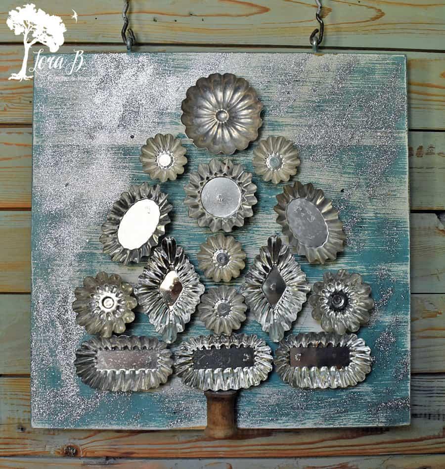 How To Create Vintage Tart Mold Wall Art