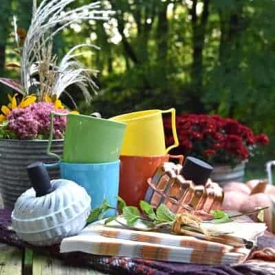 Rustic Vintage Fall Picnic Table