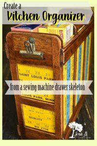 Sewing Machine Drawer Kitchen Organizer
