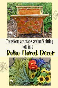 Sewing Tote Repurposed