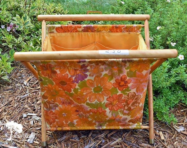 Repurposed Vintage Sewing Tote