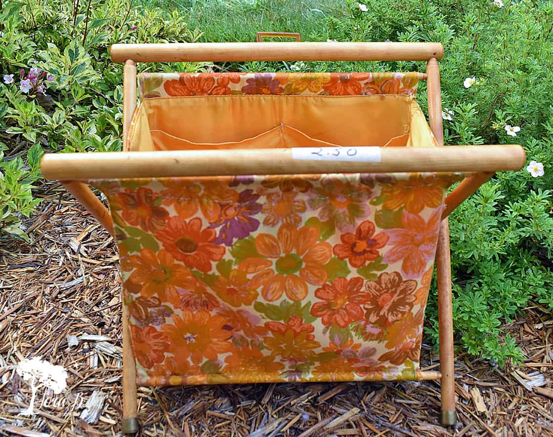 Vintage Sewing Tote Repurposed