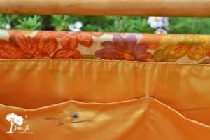 Vintage Sewing Tote Repurposed