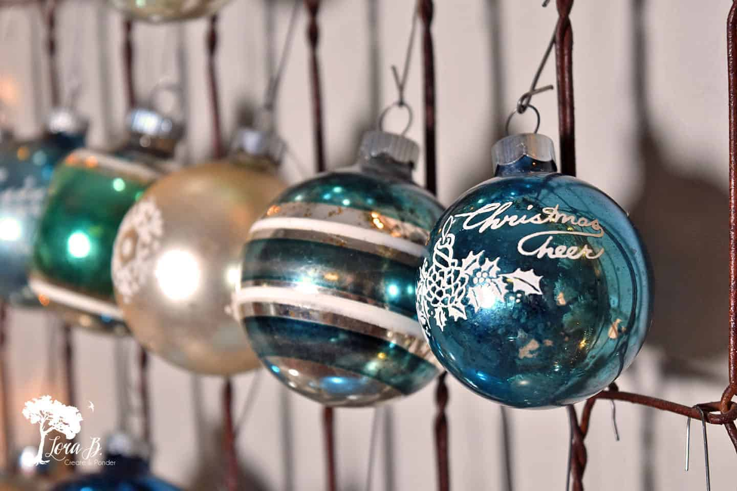 Bedspring Shiny Brite Tree, Aqua Version
