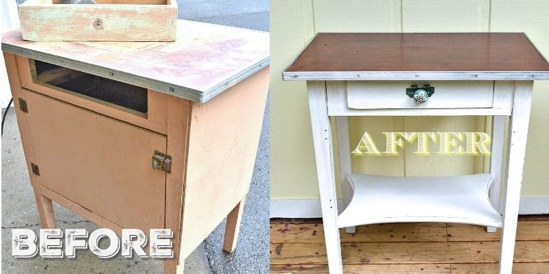 vintage side table makeover