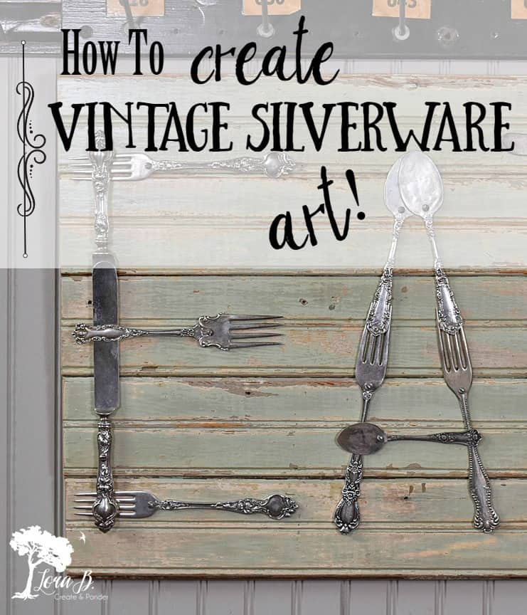 Vintage silverware can be re-purposed as unique art for your kitchen. With a little hammering and drilling, you can create an easy DIY word as unique art for your home. Here's a how-to.