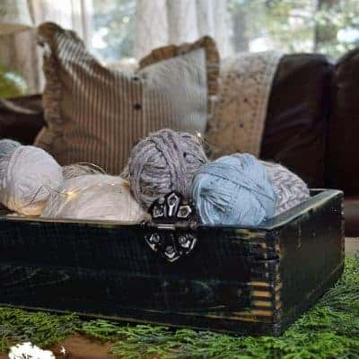 Easy Yarn Ball Centerpiece How-To
