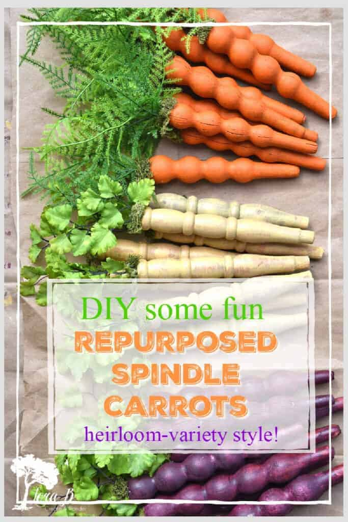 upcycled spindle carrots
