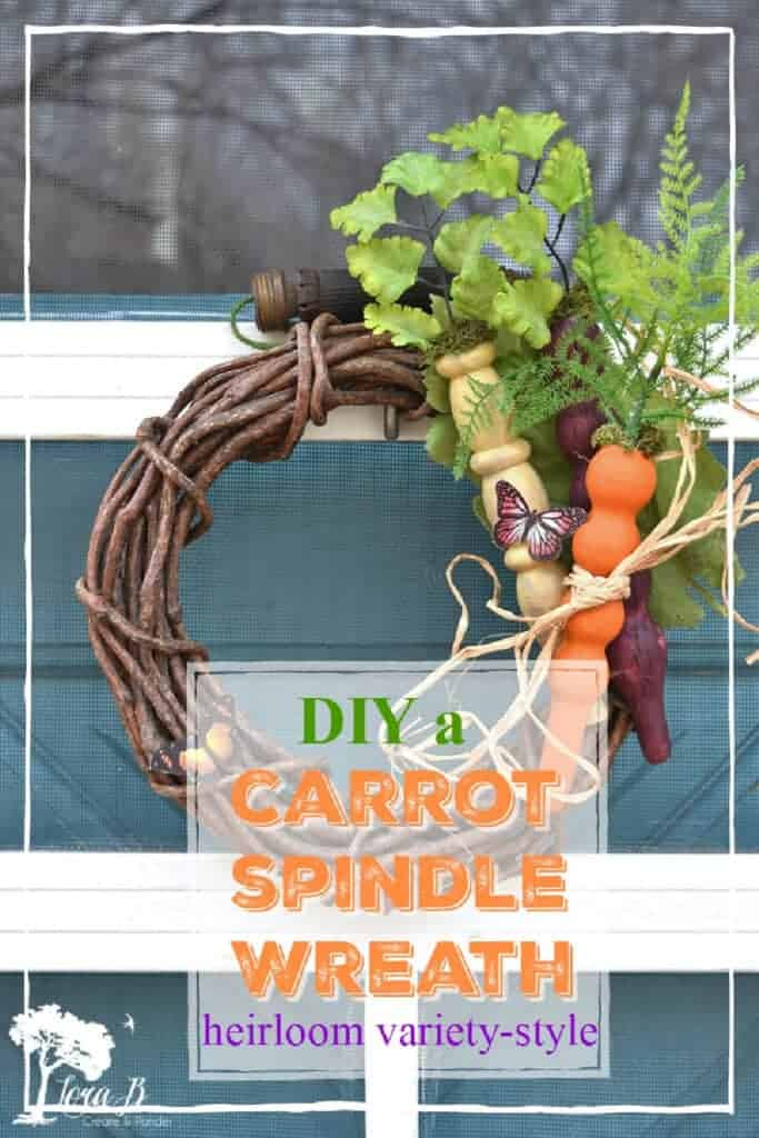 spindle carrot wreath