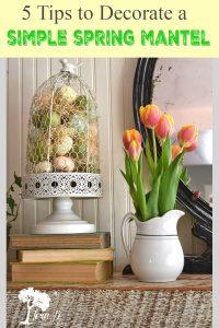 spring mantel decor ideas