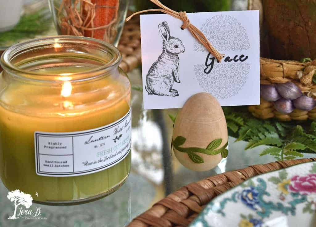 Easter bunny placecard