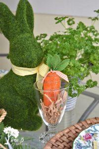 moss bunny on table