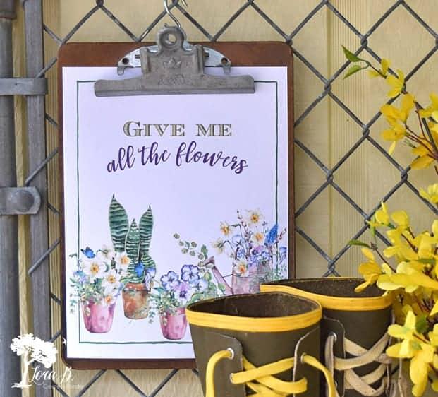 free Spring printable Lora B