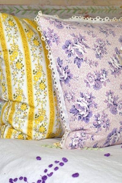 vintage spring bedding