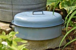 Vintage blue Roaster pan