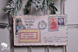 Vintage First Issue Postal Stamp Ornament How To
