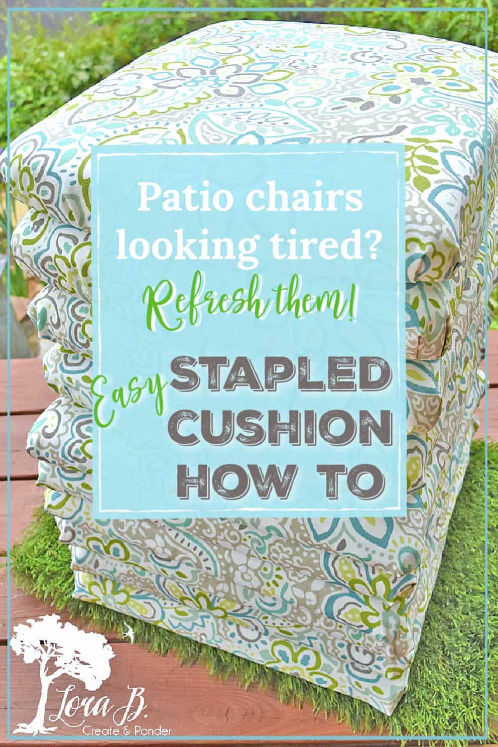 Refreshing Patio Chairs: Stapled Cushion How-To