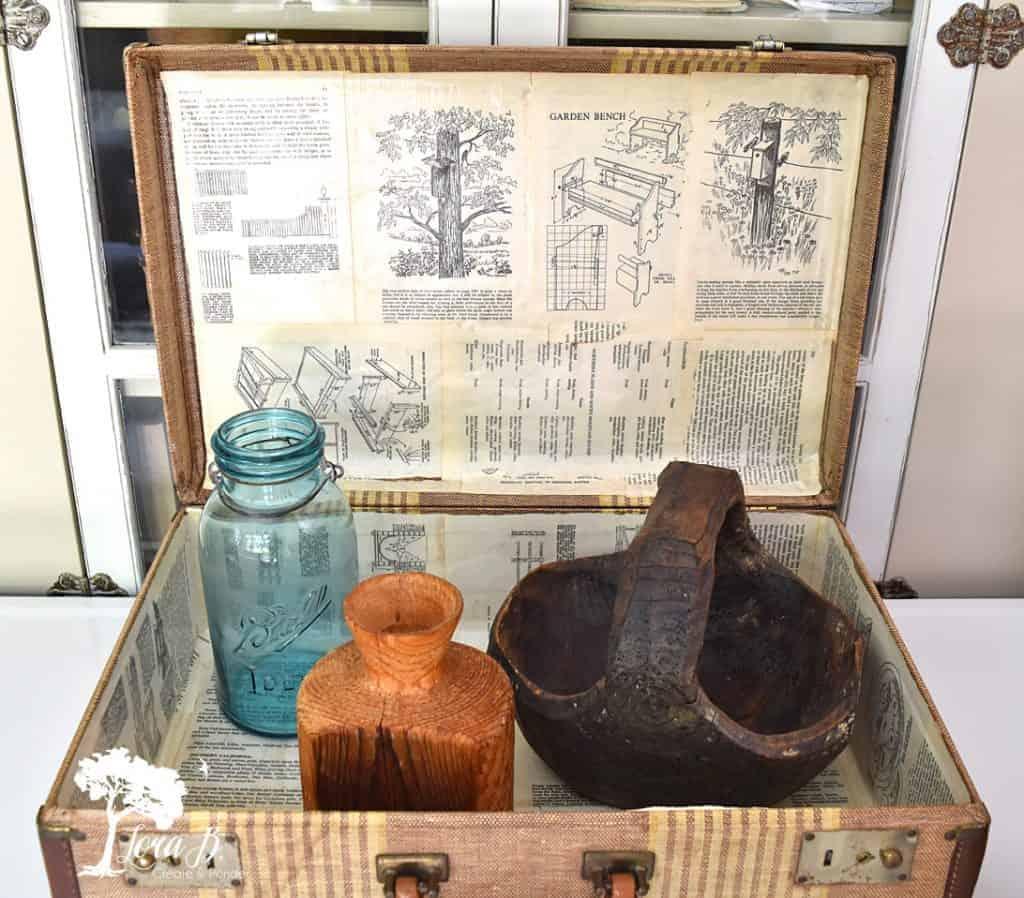 old suitcase vignette