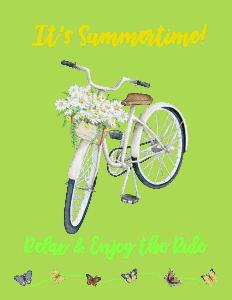 free summer bicycle printable