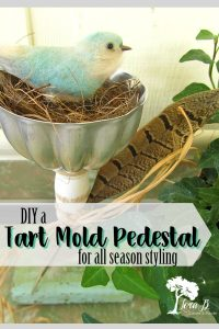 Repurposed Tart Mold Pedestals