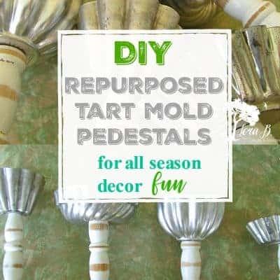 Repurposed Tart Mold Pedestals