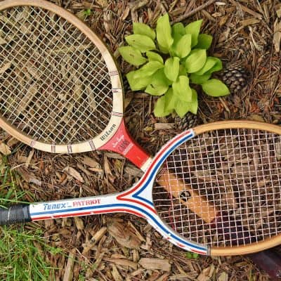 Patriotic Tennis Racket Upcycle