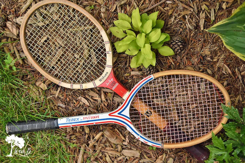 Patriotic Tennis Racket Upcycle