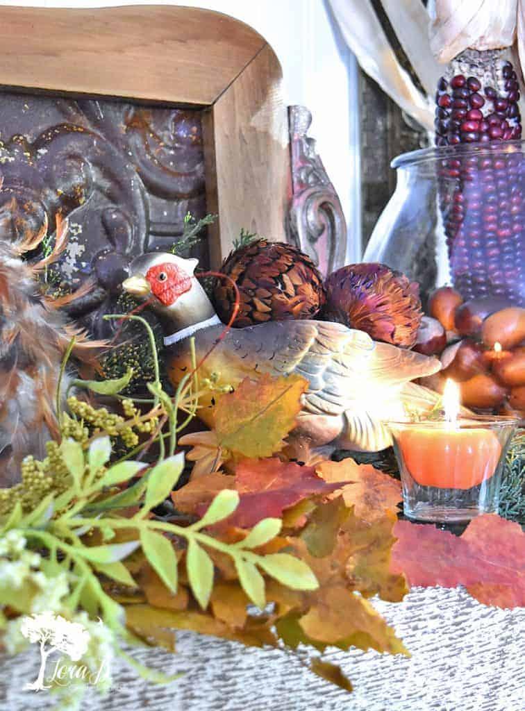 vintage pheasant pottery