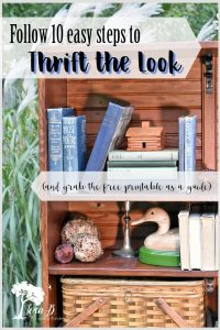 How to Decorate to Thrift the Look