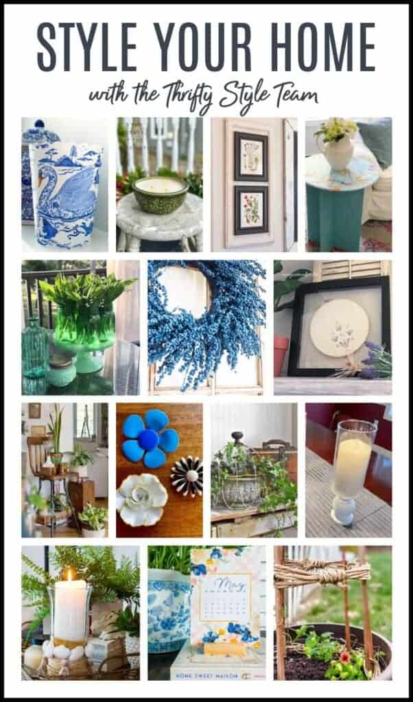 Thrifty Style team blog hop collage