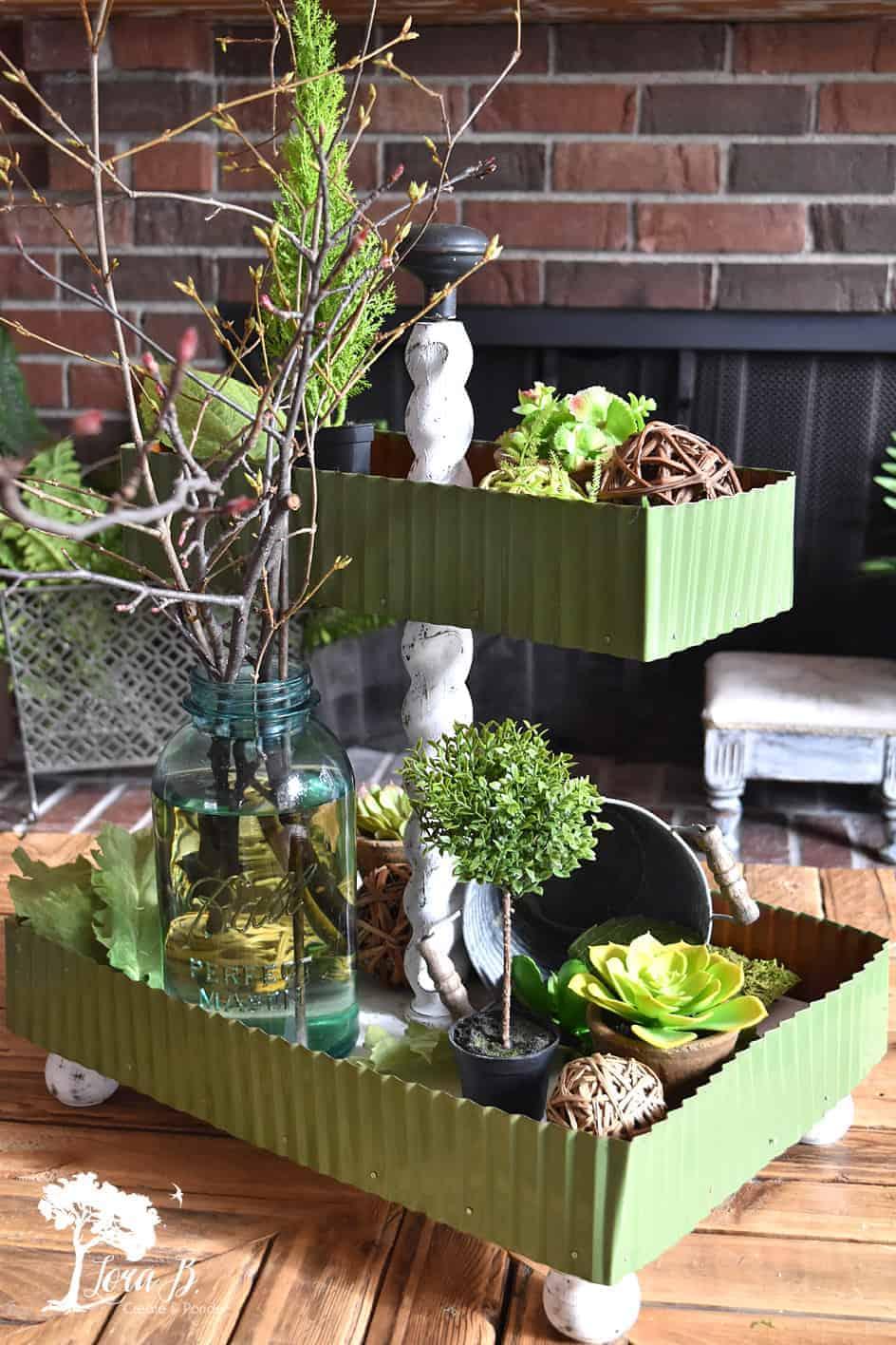 DIY tiered tray