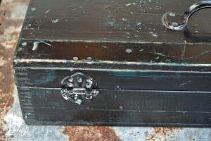 Vintage wood toolbox