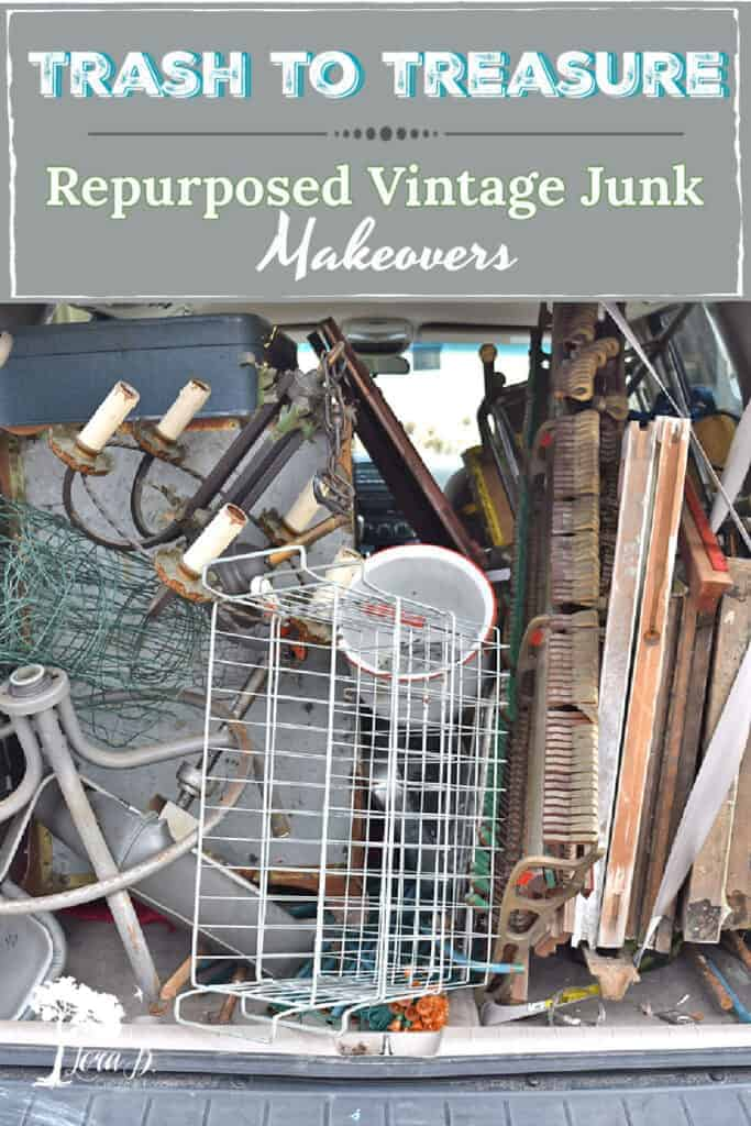 Enjoy seeing repurposed vintage trash to treasure makeovers; from curb to home decor.