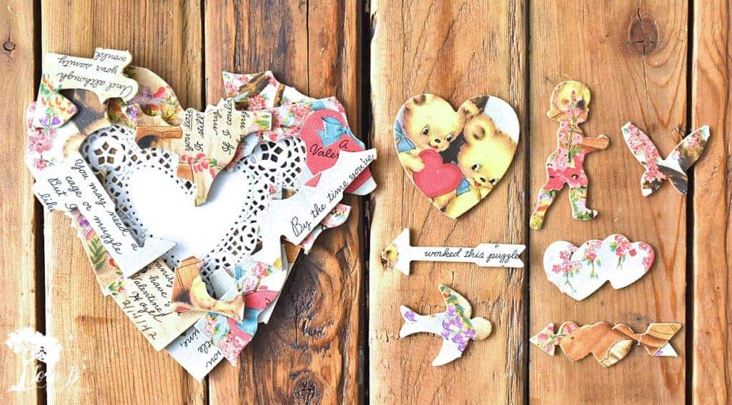 upcycled vintage puzzle