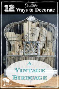 vintage birdcage decorating