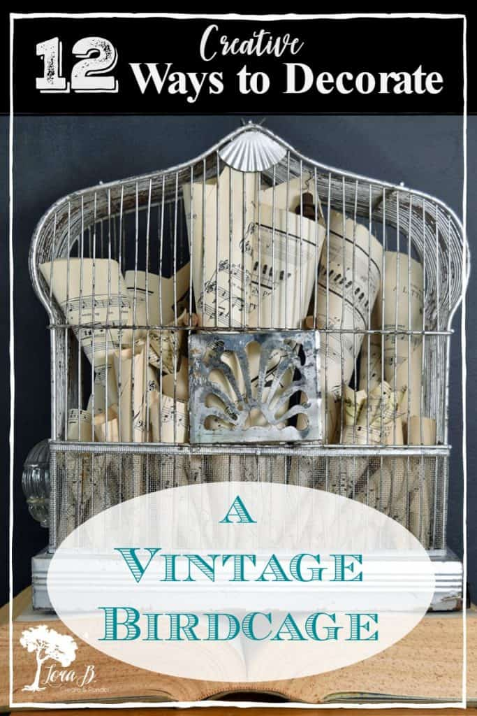 vintage birdcage decorating