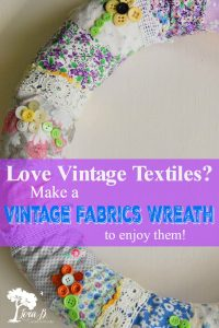 DIY vintage fabric wreath
