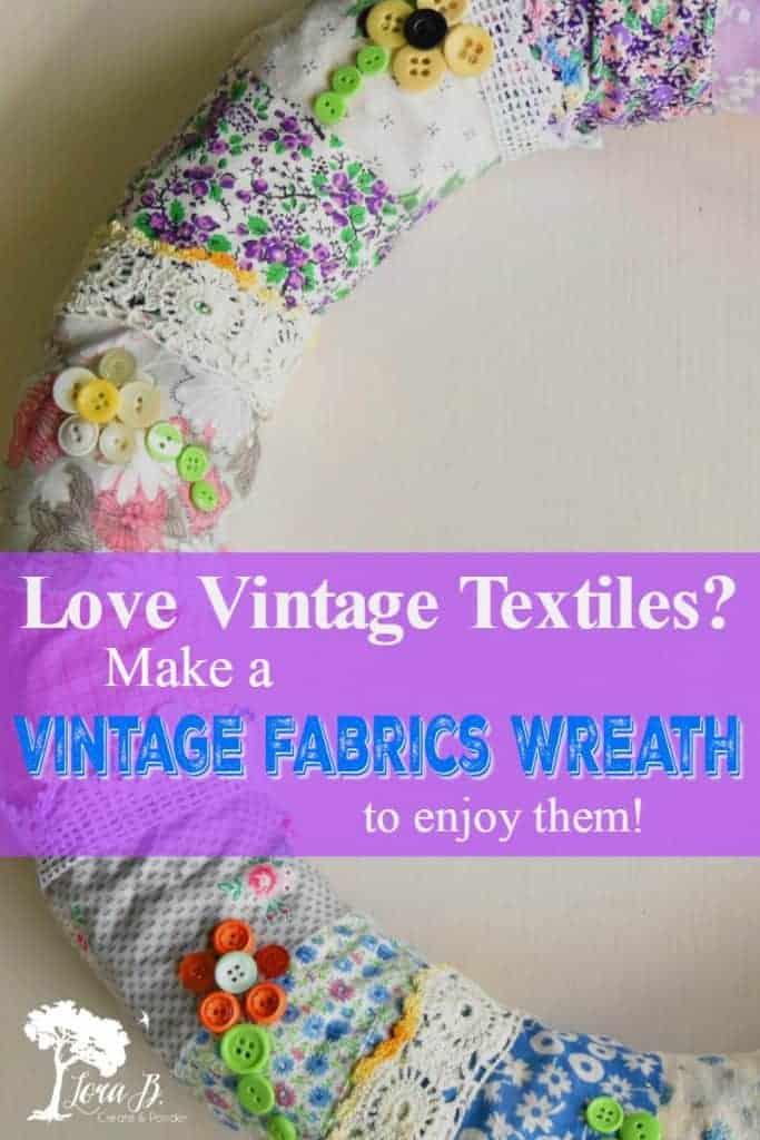 DIY vintage fabric wreath