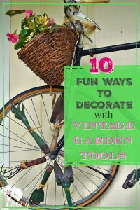 vintage garden tools decorating ideas
