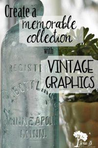 Vintage Graphics on bottle