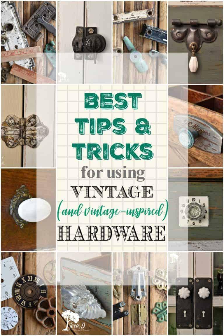 Best Tips for Using Vintage (and vintage inspired) Hardware