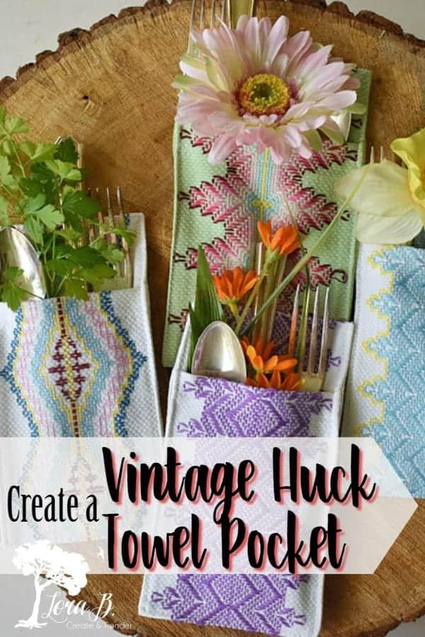 How to Make a Huck Towel Pocket