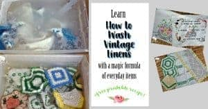 How to Wash Vintage Linens