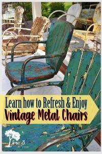 vintage metal lawn chair refresh