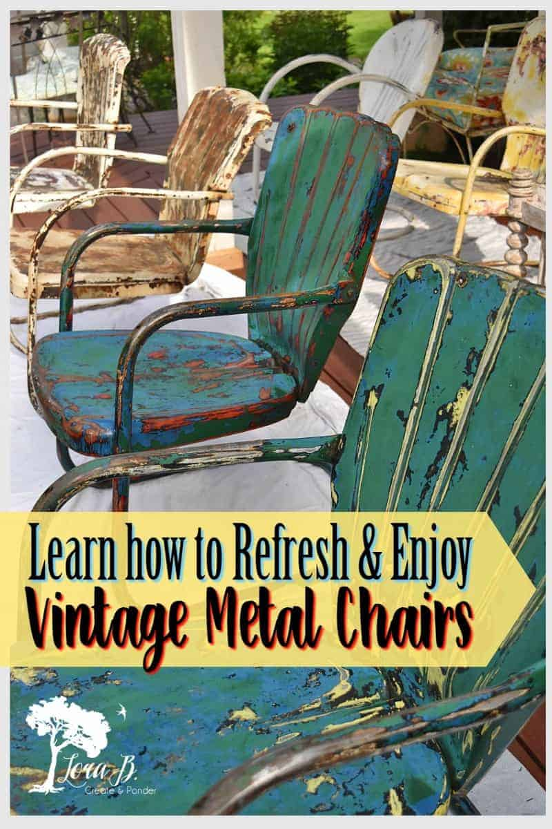 Astonishing How To Refresh And Enjoy Vintage Metal Lawn Chairs Lora B Alphanode Cool Chair Designs And Ideas Alphanodeonline