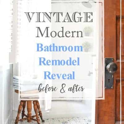 Vintage Modern Bathroom Remodel Reveal