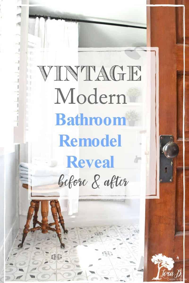Vintage Modern Bathroom Remodel Reveal